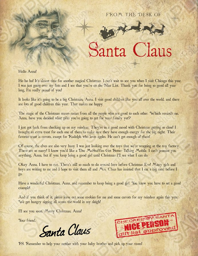 Written by santa santas letter no 2 preview a personalized santas letter no 2 move your mouse over the image to highlight personalizations spiritdancerdesigns Image collections