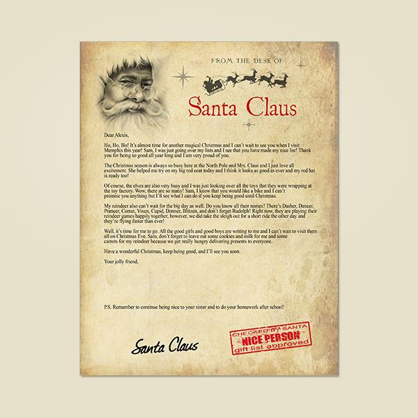 view sample items - From Santa
